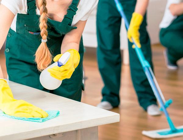 Serviços de limpeza em hotelaria